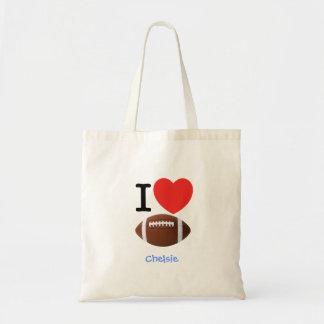 I Love Football Tote Bag