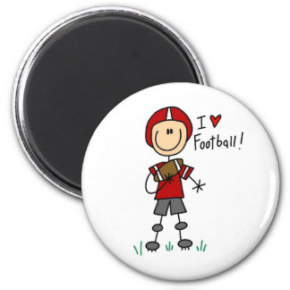 I Love Football Tshirts and Gifts 2 Inch Round Magnet