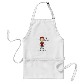 I Love Football Tshirts and Gifts Adult Apron