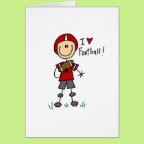 I Love Football Tshirts and Gifts Card