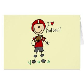 I Love Football Tshirts and Gifts Card