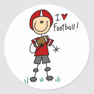 I Love Football Tshirts and Gifts Classic Round Sticker