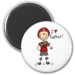 I Love Football Tshirts and Gifts Refrigerator Magnet