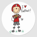 I Love Football Tshirts and Gifts Round Sticker