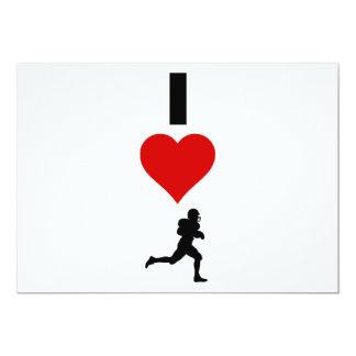 I Love Football (Vertical) Card