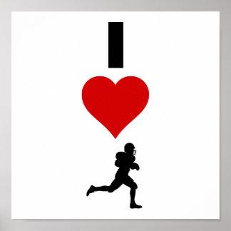 I Love Football (Vertical) Poster