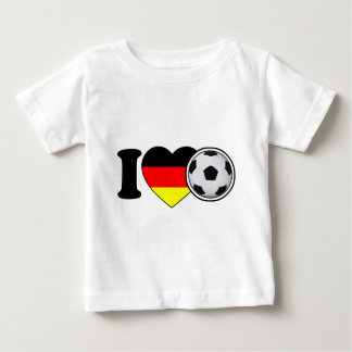 """I Love football"" - with popular Germany heart Baby T-Shirt"