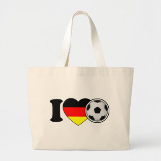 """""""I Love football"""" - with popular Germany heart Canvas Bags"""
