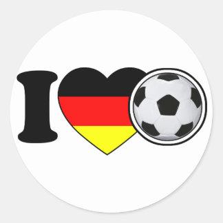 """""""I Love football"""" - with popular Germany heart"""