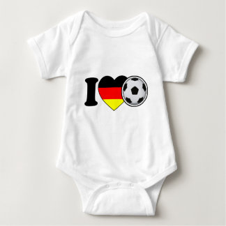 """I Love football"" - with popular Germany heart T-shirt"