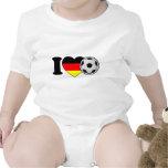 """""""I Love football"""" - with popular Germany heart Tshirt"""