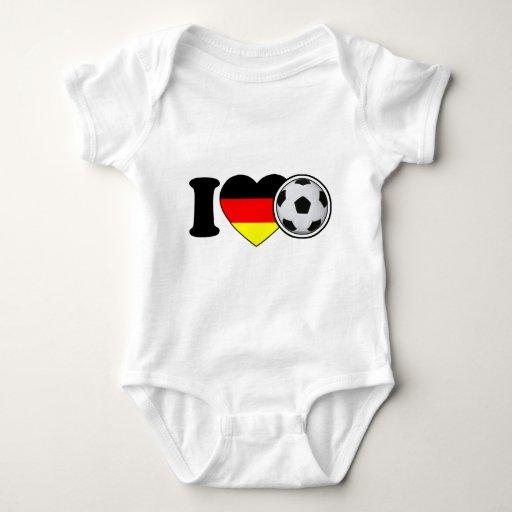 """I Love football"" - with popular Germany heart T Shirts"
