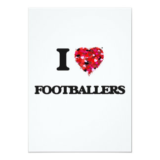 I love Footballers 5x7 Paper Invitation Card