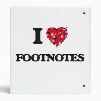 I Love Footnotes Binder