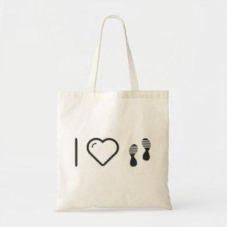 I Love Footprints Sexies Budget Tote Bag