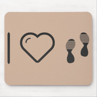 I Love Footprints Sexies Mouse Pad