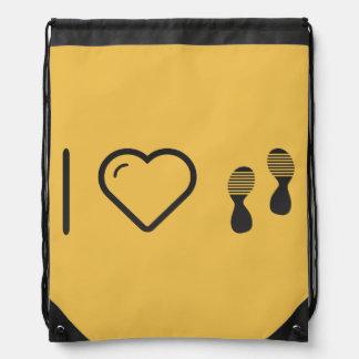 I Love Footprints Sexies Drawstring Bag