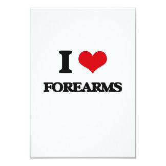 i LOVE fOREARMS 3.5x5 Paper Invitation Card