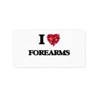 I Love Forearms Address Label