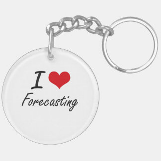 I love Forecasting Double-Sided Round Acrylic Keychain