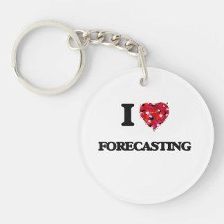 I Love Forecasting Single-Sided Round Acrylic Keychain