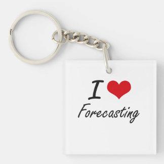 I love Forecasting Single-Sided Square Acrylic Keychain