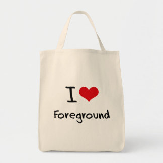 I Love Foreground Tote Bags