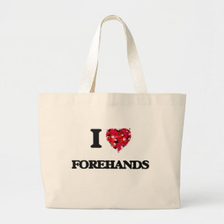 I Love Forehands Jumbo Tote Bag