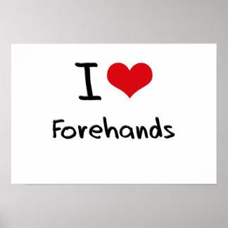 I Love Forehands Poster