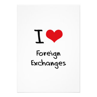 I Love Foreign Exchanges Personalized Announcement