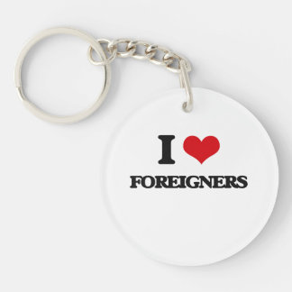 i LOVE fOREIGNERS Key Chains