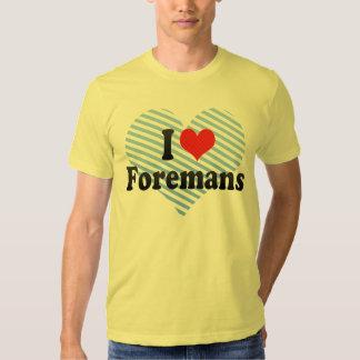 I Love Foremans T-shirts