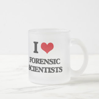 I love Forensic Scientists 10 Oz Frosted Glass Coffee Mug