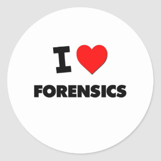 I Love Forensics Classic Round Sticker