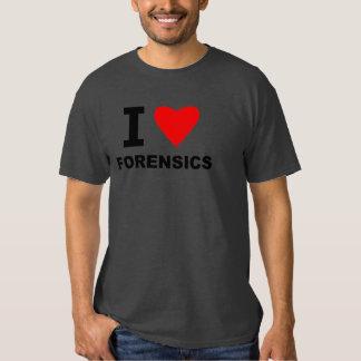 I Love Forensics Tee Shirt