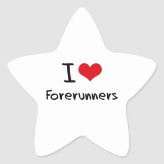 I Love Forerunners Star Stickers