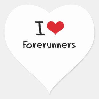 I Love Forerunners Heart Sticker