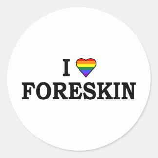 I Love Foreskin Classic Round Sticker