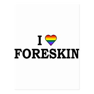 I Love Foreskin Postcard