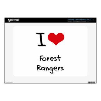I Love Forest Rangers Samsung Chromebook Decal