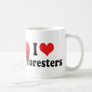 I Love Foresters Coffee Mugs