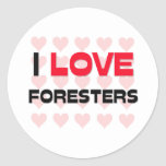 I LOVE FORESTERS STICKER
