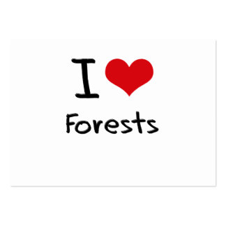 I Love Forests Large Business Cards (Pack Of 100)