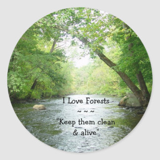 I Love Forests Sticker