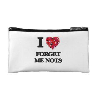 I Love Forget Me Nots Makeup Bag
