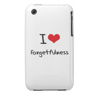 I Love Forgetfulness iPhone 3 Cases