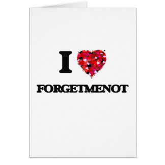 I love Forgetmenot New Jersey Greeting Card