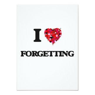 I Love Forgetting 5x7 Paper Invitation Card
