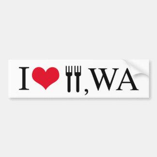 I Love Forks, WA Bumper Sticker