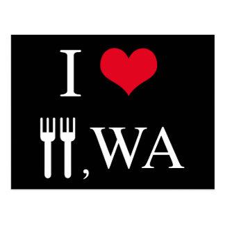 I Love Forks, WA Postcard